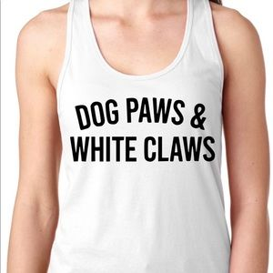 Dog paws and white claws tank top